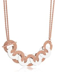 Rebecca - R-zero Rose Gold Over Bronze And Steel Maxi Chain Necklace - Lyst