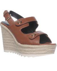 COACH - Electra Slingback Espadrille Sandals, Saddle - Lyst