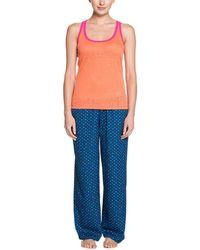 Steve Madden - Orange & Navy Dot Tank And Pant Pyjama Set - Lyst