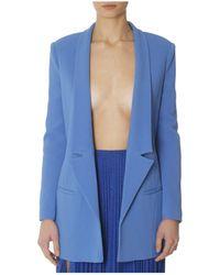 Elisabetta Franchi - Women's Blue Viscose Blazer - Lyst
