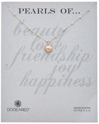 Dogeared - Pearls Of Silver 8mm Pearl Necklace - Lyst