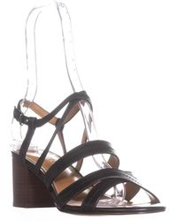 COACH - Terri Strappy Heel Sandals, Black - Lyst