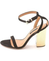 Kay Unger - Womens Zander Leather Open Toe Casual Ankle Strap Sandals - Lyst