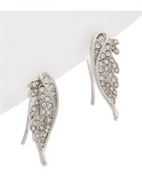 Rebecca Minkoff - Crystal Pave Wing Climber Earrings - Lyst