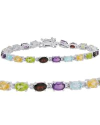 Amanda Rose Collection - 10ct Tgw Multi Gemstone Tennis Bracelet In Sterling Silver - Lyst