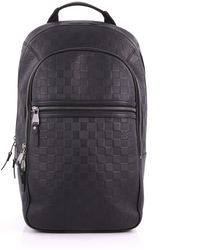 ce75e35460a6 Louis Vuitton - Pre Owned Michael Nm Backpack Damier Infini Leather - Lyst