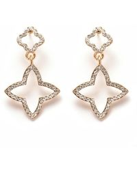 Peermont | Gold And White Swarovski Elements Star Drop Earrings | Lyst
