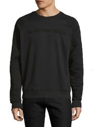 G-Star RAW - Tarev Quilted Crewneck Sweater - Lyst