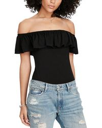 Denim & Supply Ralph Lauren - Ruffled Off The Shoulder Bodysuit - Lyst