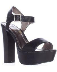 Material Girl - Mg35 Ciara Platform Ankle Strap Sandals, Black - Lyst