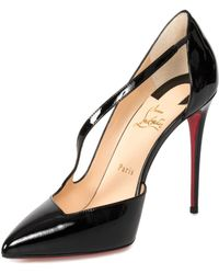 76f070847363 Christian Louboutin Strappy Half D orsay Pump in Natural - Lyst