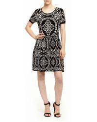 Romeo and Juliet Couture - Romeo And Juliet Couture Brocade Knit Dress - Lyst