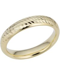 Jewelry Affairs - 14k Yellow Gold Diamond Cut 4mm Wide Wedding Band Ring, Size 12 - Lyst