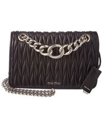 b7bdef6b3df7 Lyst - Miu Miu Club Medium Metallic Matelasse Leather Crossbody Bag ...