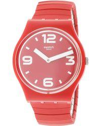 Swatch - Chili Gr173a Silicone Swiss Parts Quartz Fashion Watch - Lyst