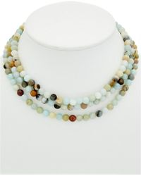 Elise M - Montauk 18k Plated Amazonite Necklace - Lyst