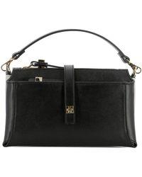 Giancarlo Petriglia - Women's Black Leather Shoulder Bag - Lyst