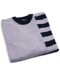 Givenchy | Mens Grey And Black Striped 100% Wool Sweater | Lyst