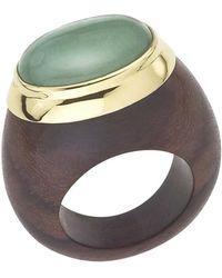 Jewelista - 18k Vermeil Aventurine Ring - Lyst