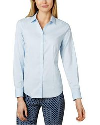 Charter Club - Solid Button Down Shirt - Lyst