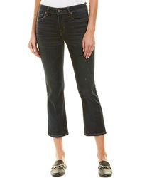 Vince - Blue Flare Crop - Lyst