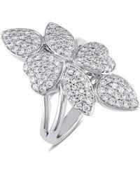 Julianna B - 1 Ct Diamond Tw & 14k White Gold Fashion Ring - Lyst