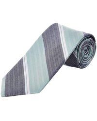 Cole Haan - Mint Moby Stripe Silk-blend Tie - Lyst