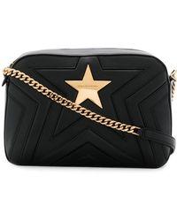 Stella McCartney - Women's Black Polyester Shoulder Bag - Lyst