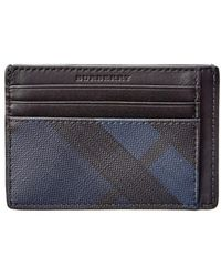 Burberry - London Check Leather Card Case - Lyst