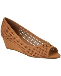 French Sole - Necessary Nubuck Leather Wedge - Lyst