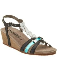 Mephisto - Women's Mandy Leather Wedge Sandal - Lyst