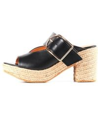 All Black - Womens Padrille Open Toe Clogs - Lyst