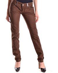 Pinko - Women's Mcbi242044o Brown Cotton Jeans - Lyst