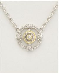 Judith Ripka - 18k Over Silver White Topaz Necklace - Lyst