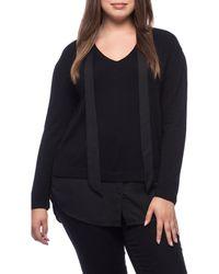 Bobeau - Brooks Mixed Media Plus Size Sweater - Lyst