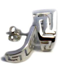 Jewelry Affairs - Sterling Silver Rhodium Plated Ancient Greek Key Stud Earrings - Lyst