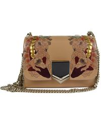 0f57e0ff43ea Lyst - Jimmy Choo Whiskey Suede Pauline Shoulder Bag in Brown