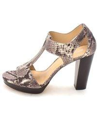 2b3430cccef3 Michael Kors - Womens Berkley Leather Open Toe Casual Platform Sandals -  Lyst