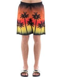 Marcelo Burlon - Printed Nylon Swim Shorts - Lyst