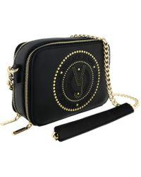 Lyst - Versace Ee1vsbbh1 Em27 Black gold Shoulder Bag in Black 641e465a2eccd