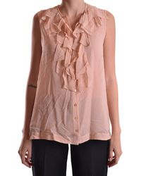 John Galliano | Women's Pink Silk Blouse | Lyst
