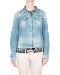 Replay | Women's Blue Cotton Jacket | Lyst
