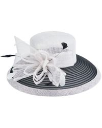 San Diego Hat Company - Women's Sinamay Colorblock Hat - Lyst