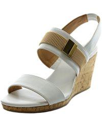 CALVIN KLEIN 205W39NYC - Brandie Women Open Toe Synthetic Wedge Sandal - Lyst