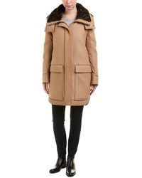 Moncler - Wool-blend Down Coat - Lyst