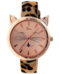 Boum - Miaou Cat-accent Leather-band Watch - Lyst
