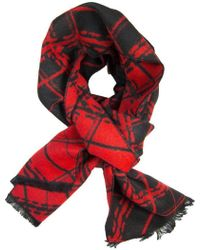 Dibi - Black & Red Diamonds Scarf - Lyst