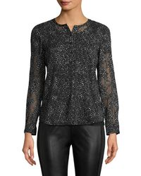 Rebecca Taylor - Long Sleeve Snow Dot Top - Lyst