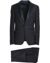 Tagliatore - Men's Blue Wool Suit - Lyst