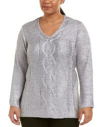NIC+ZOE - Nic+zoe Plus Cable Wave Top - Lyst